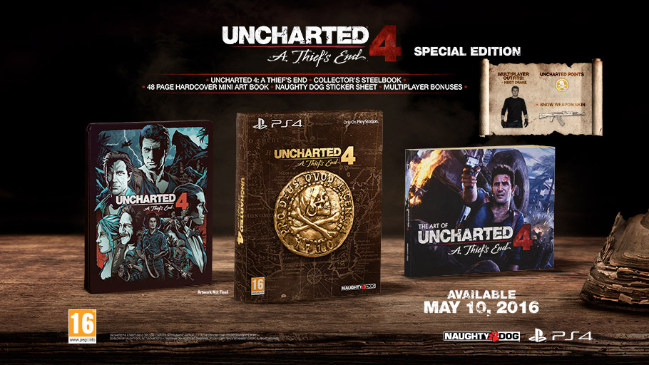 Uncharted 4: A Thief's End collector