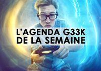 L'agenda Geek de la semaine (du 1er au 7 janvier 2018)
