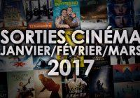 Agenda Sorties Ciné : Les films à voir entre janvier et mars 2017