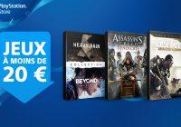 PlayStation Store : retour des jeux à moins de 20 €