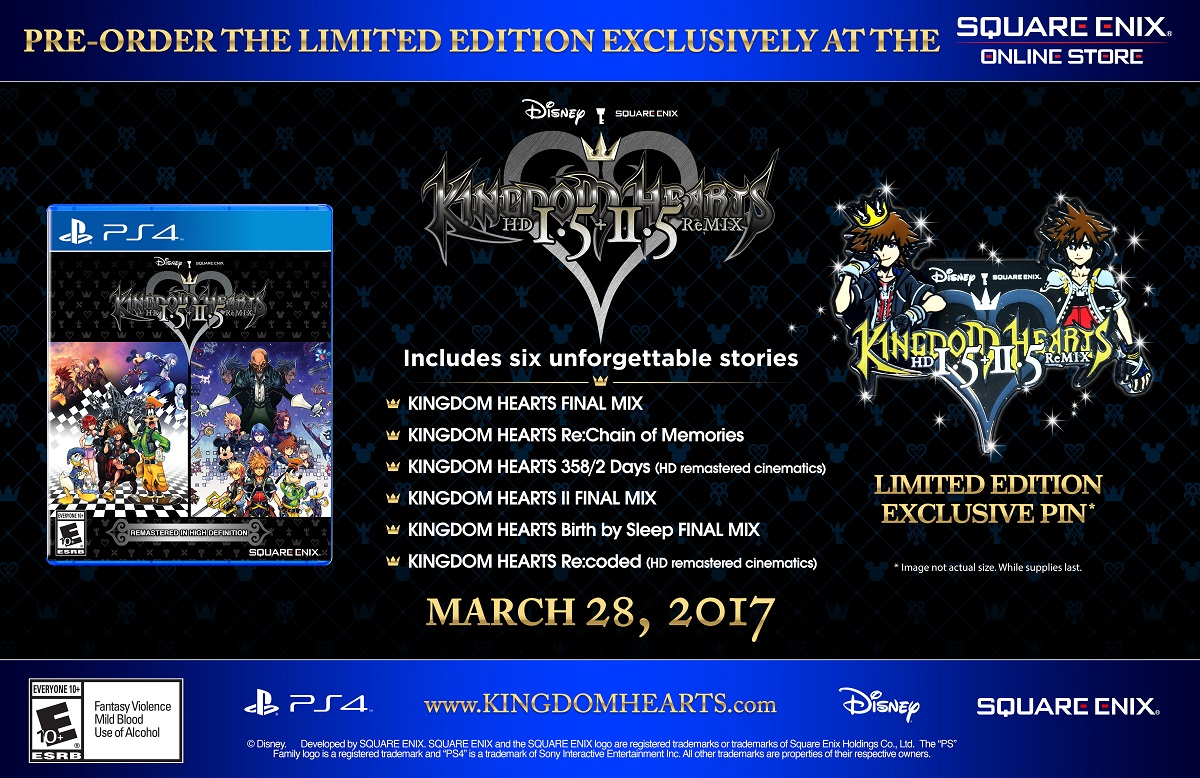 une dition collector et une date pour kingdom hearts hd 1 5 2 5 remix. Black Bedroom Furniture Sets. Home Design Ideas