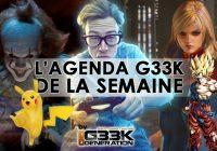 L'agenda Geek de la semaine (du 18 au 24 septembre 2017)