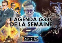 L'agenda Geek de la semaine (du 9 au 15 octobre 2017)