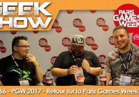 [PGW2017] Retour sur la Paris Games Week 2017 : notre compte-rendu vidéo