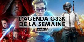 L'agenda Geek de la semaine (du 11 au 17 décembre 2017)