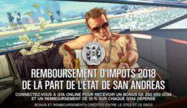 GTA Online : remboursement d'impôts 2018 de la part de l'état de San Andreas