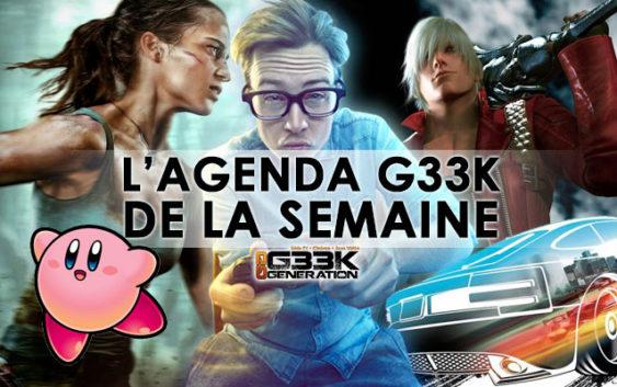 L'agenda Geek de la semaine (du 12 au 18 mars 2018)