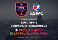 [eSport] ESWC FIFA 18 Paris & São Paulo