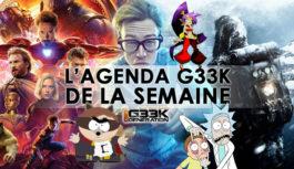 L'agenda Geek de la semaine (du 23 au 29 avril 2018)