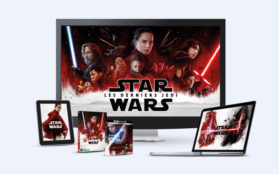Star Wars Episode 8 Les Derniers Jedi DVD Blu Ray VOD
