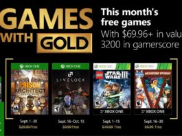Xbox GAMES WITH GOLD Septembre 2018