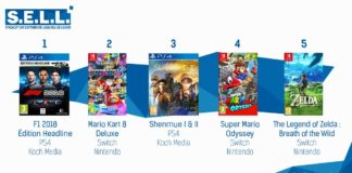 TOP Ventes Jeux Video semaine 34 2018