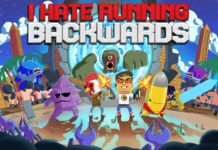 I Hate Running Backwards - Switch Key Art
