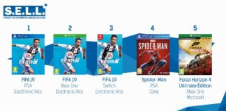 TOP Ventes Jeux Video semaine 39 2018
