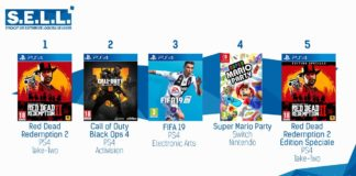 TOP Ventes Jeux Video Sem 45 2018