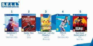 TOP ventes jeux video sem 47 2018