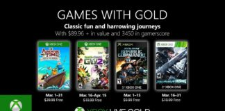 Xbox Live Games With Gold - March 2019 Games with Gold