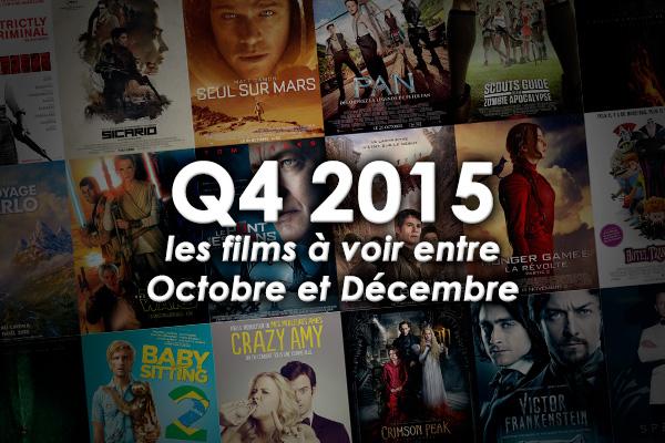 Les Sorties Ciné 2015 Q4