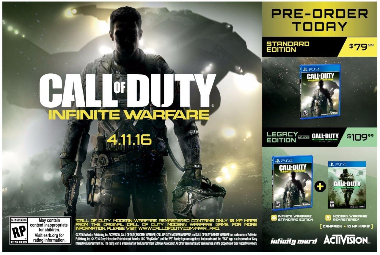Call of Duty: Infinite Warfare Call of Duty: Mordn Warfare Remastered Legacy