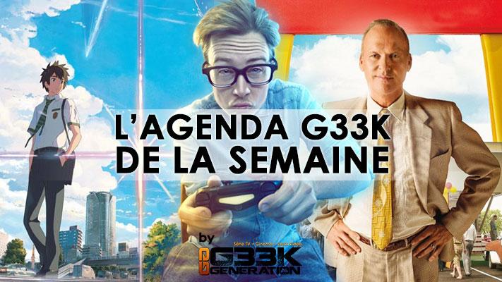L'agenda Geek de la semaine (du 26 décembre 2016 au 1er janvier 2017)