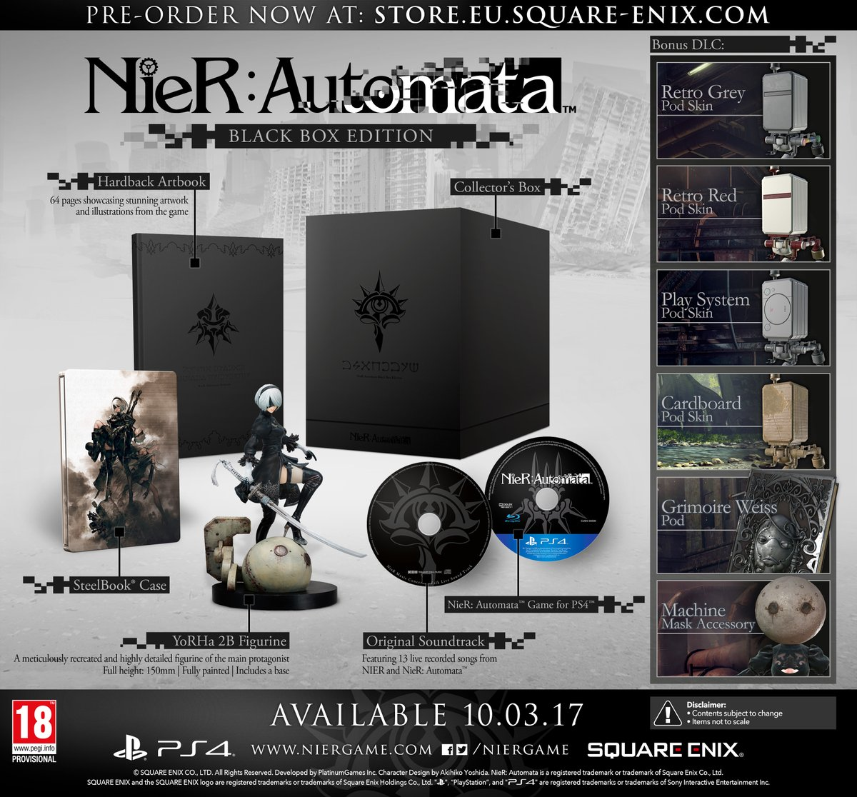 NieR: Automata -collectors-box-noire