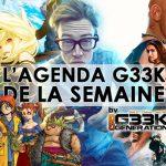 L'agenda Geek de la semaine (du 16 au 22 janvier 2017)