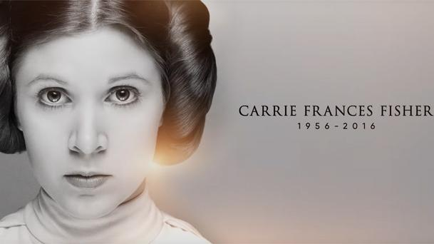 Carrie Frances Fisher 1956-2016 Hommage Star Wars Celebration