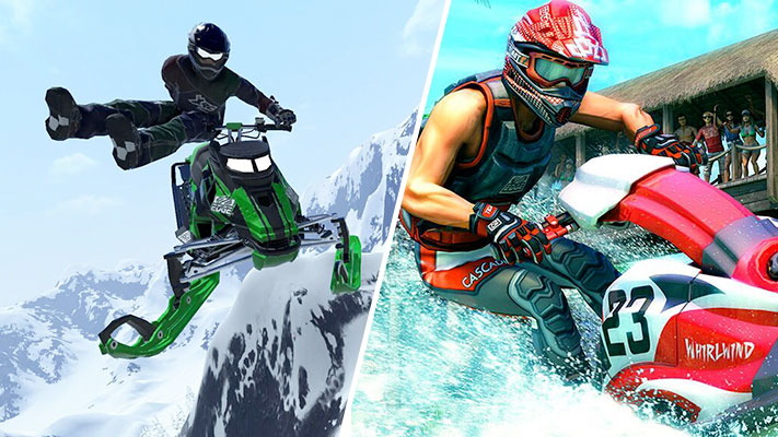 Snow Moto Racing Freedom - Aqua Moto Racing Utopia