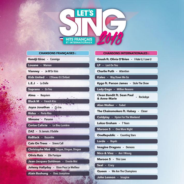 Let's Sing 2018 Hits Français et Internationaux