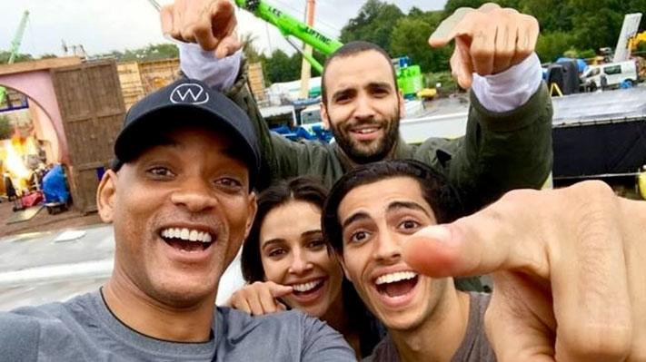 Aladdin selfie acteurs