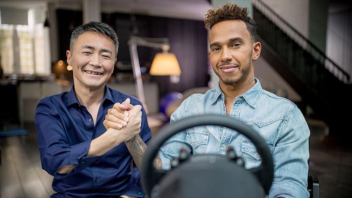 Gran Turismo Sport - Lewis Hamilton & Kazunori Yamauchi