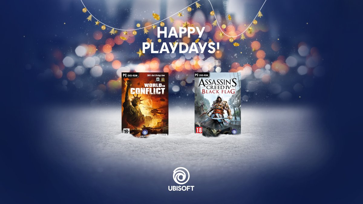 happy playdays ubisoft c l bre no l avec deux jeux gratuits sur pc. Black Bedroom Furniture Sets. Home Design Ideas
