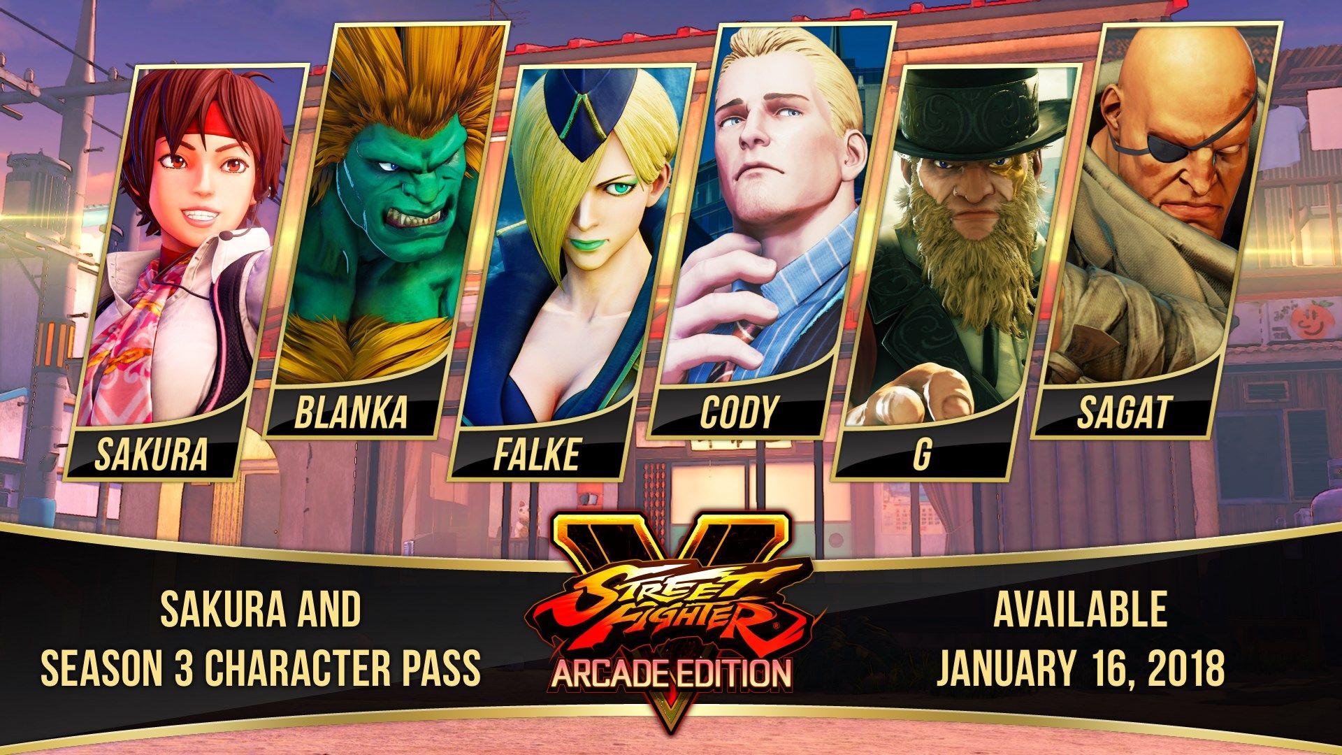 Street Fighter V Saison 3 DLC