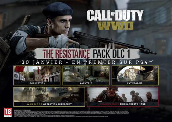 Call of Duty: WWII – le pack DLC Résistance