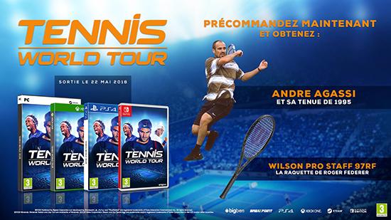Tennis World Tour Bonus Precommande