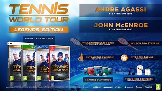 Tennis World Tour Legens Edition