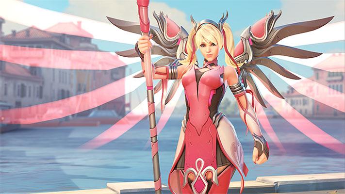 Overwatch-un-modèle-Rose-d'Ange-pour-la-recherche-sur-le-cancer-du-sein