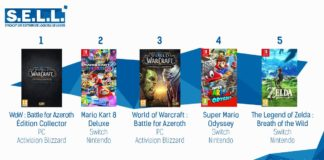 TOP Ventes Jeux Video Semaine 33