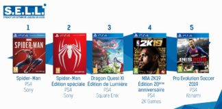 TOP Ventes Jeux Video Sem 36 2018