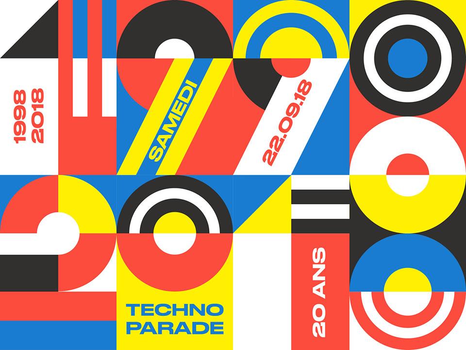 Techno Parade Affiche 2018 20 ans