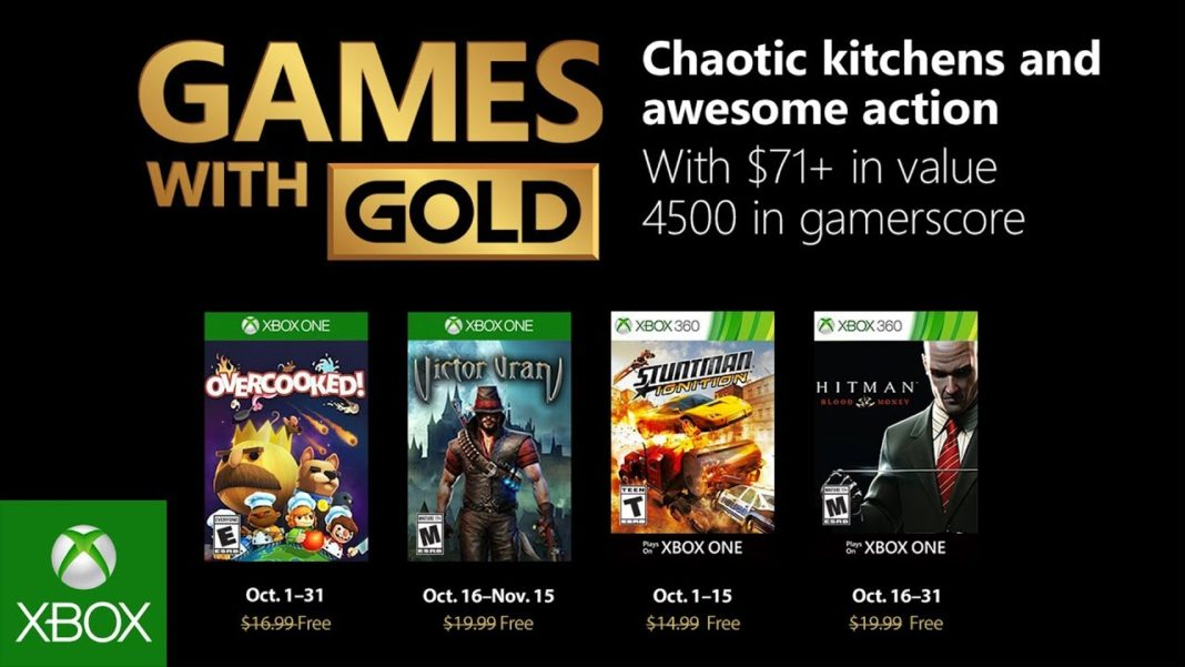 Xbox Live Games With Gold jeux offerts octobre 2018
