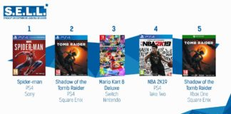 TOP Ventes Jeux Video semaine 38 2018