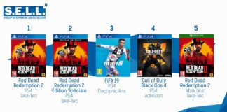 TOP Ventes Jeux Video sem 44 2018
