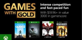 Xbox Live Games With Gold Decembre 2018