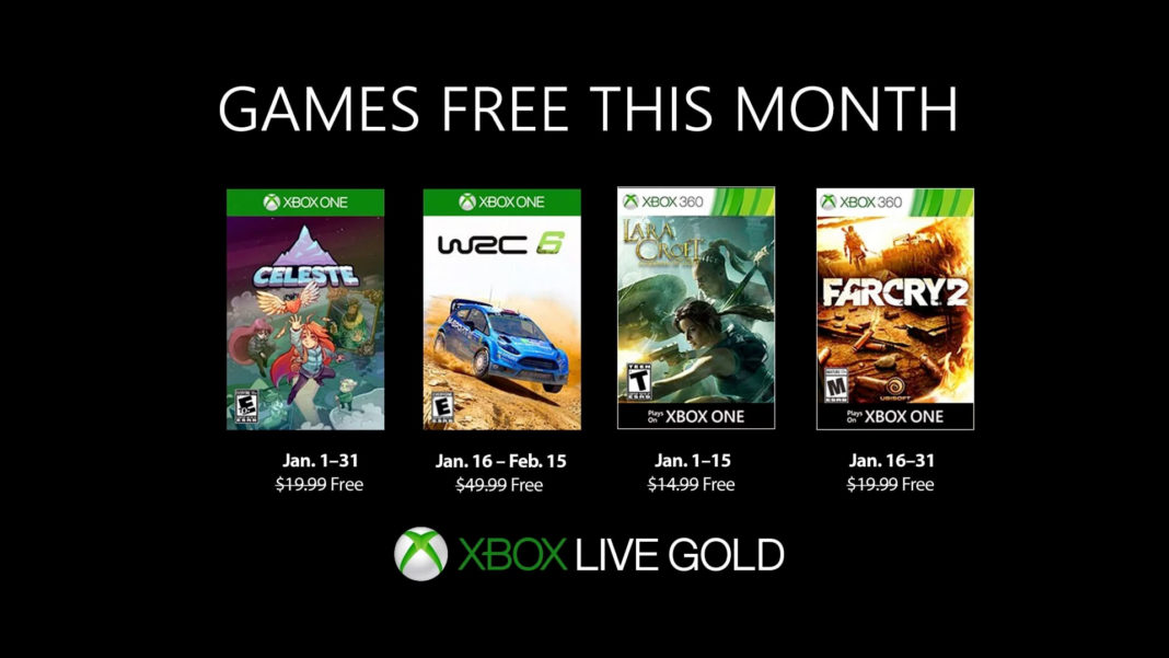 Xbox Live Games With Gold Janvier 2019