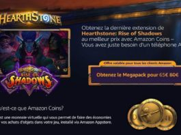 HEARTHSTONE- RISE OF SHADOWS - AMAZON COINS