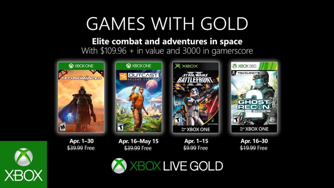 Xbox Live Games With Gold Avril 2019