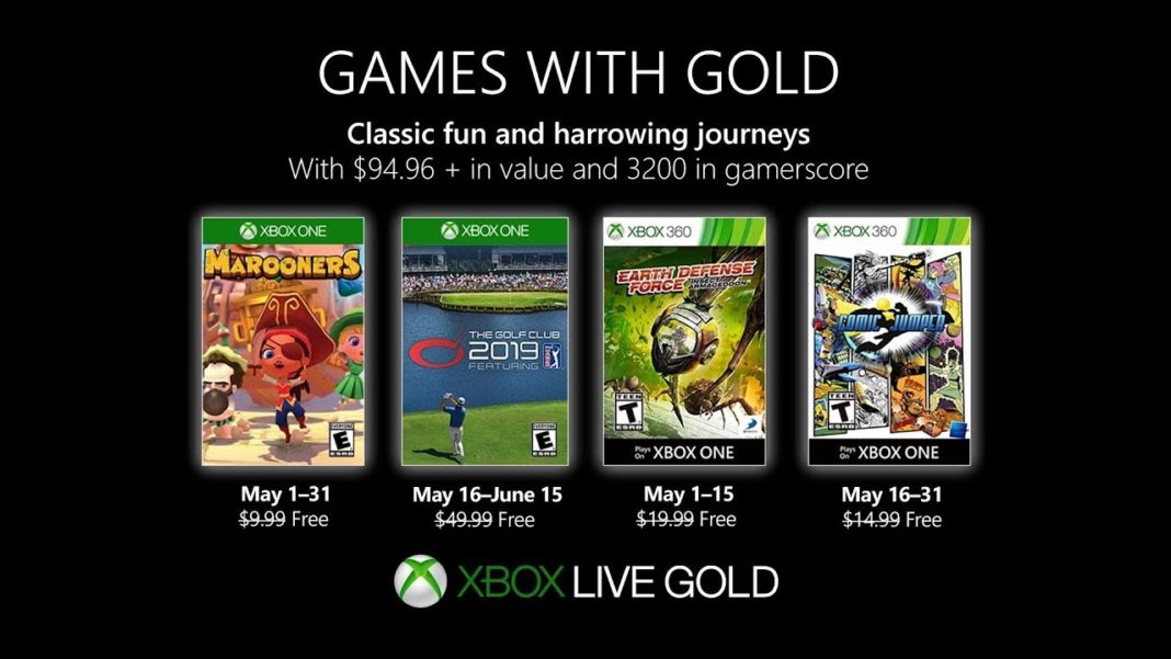 Xbox Live Games With Gold Mai 2019