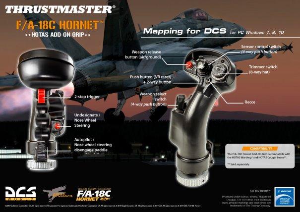 Thrustmaster F/A-18C Hornet Hotas Add-on Grip