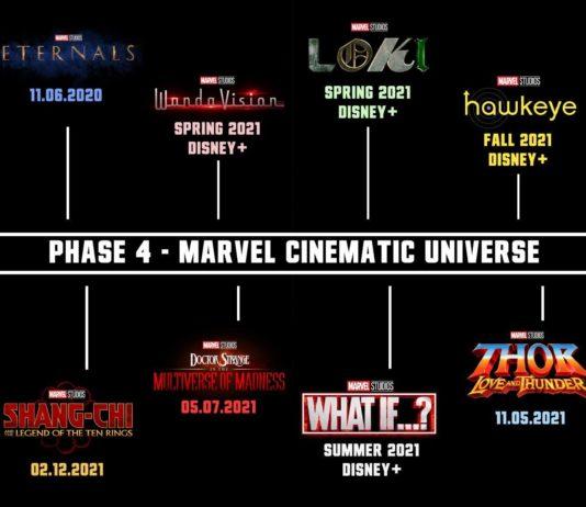 MCU Marvel Cinematic Univers Phase 4